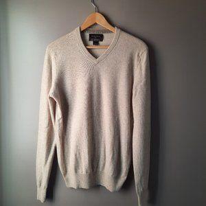 Black Brown 1826 100% Cashmere Sweater | Beige, S